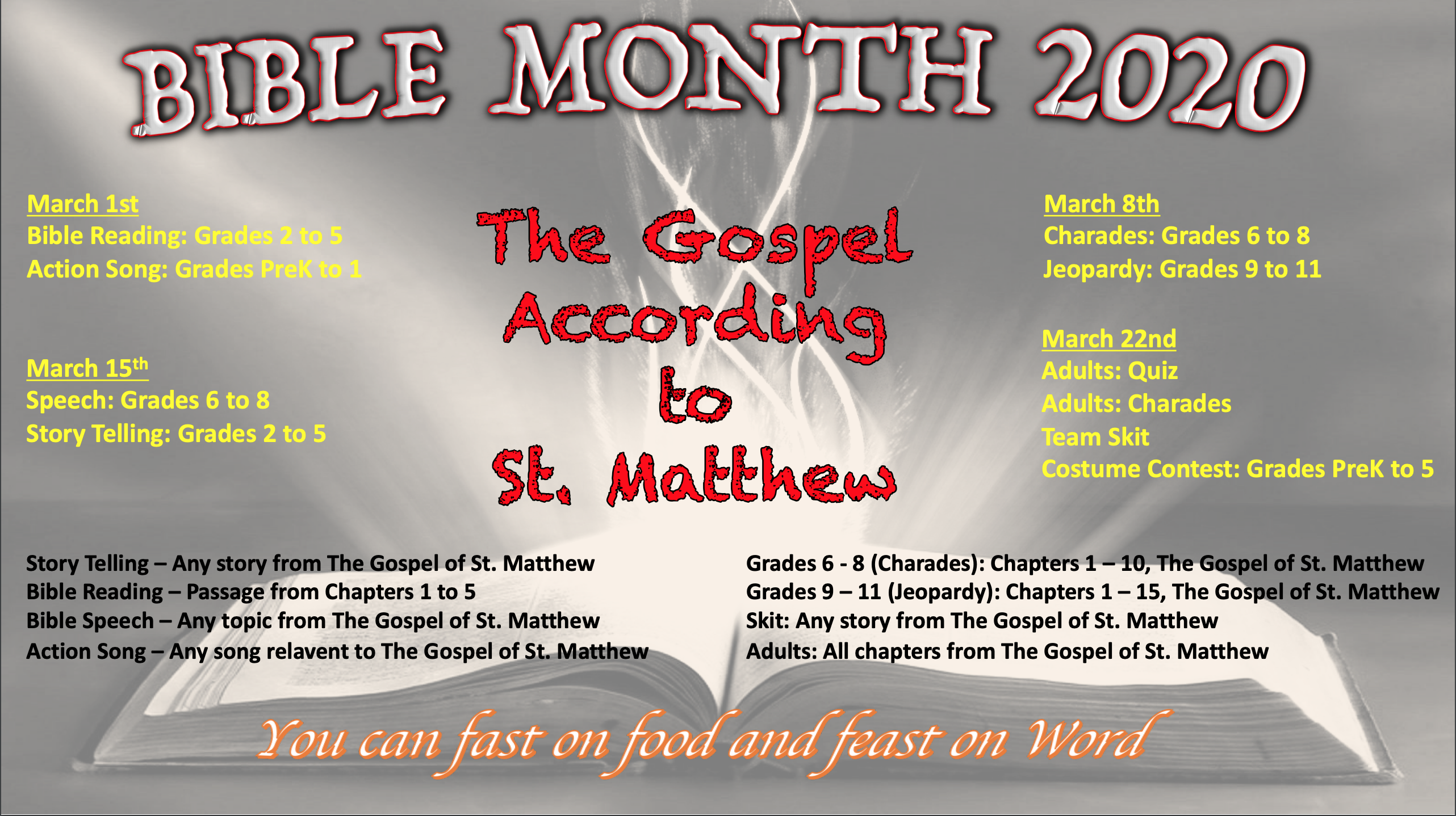 bible month flyer